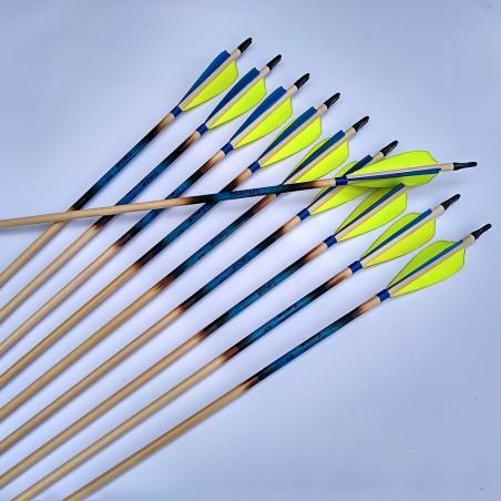 Flu- flu arrow with double feathers