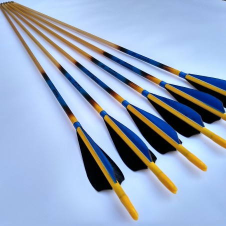 """Child wooden arrows (2,5"""" length feathers)"""